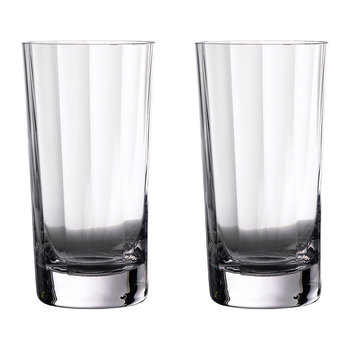 Verres Highball Optic Elegance - Lot de 2