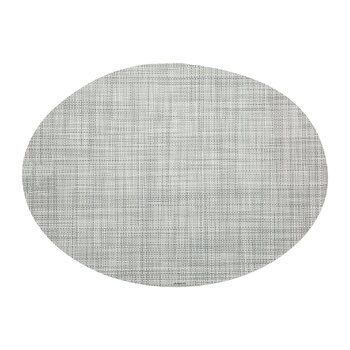 Mini Basketweave Oval Placemat - Mist