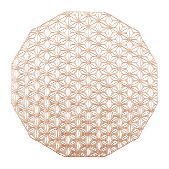 Pressed Vinyl Kaleidoscope Round Placemat - Pink Champagne