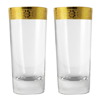 Hommage Gold Classic Long Drink Glasses - Set of 2