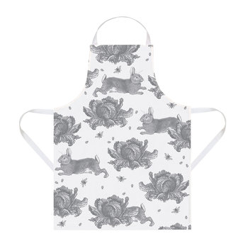 Rabbit & Cabbage Apron - Grey
