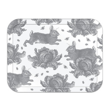 Rabbit & Cabbage Tray - Grey - Large
