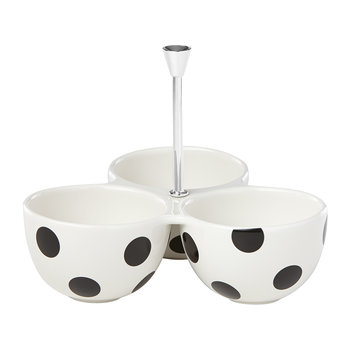 Deco Dot Divided Serving Bowls