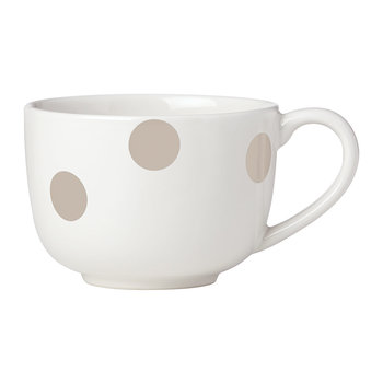 Deco Dot Latte Mug - Beige