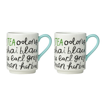 'Piping Hot' Tea Mugs - Set of 2