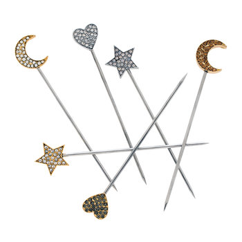 Celestial Cocktail Picks - Set of 6