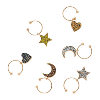 Celestial Wine Charms - Set of 6