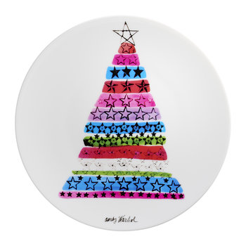 Andy Warhol Plate - Christmas Tree