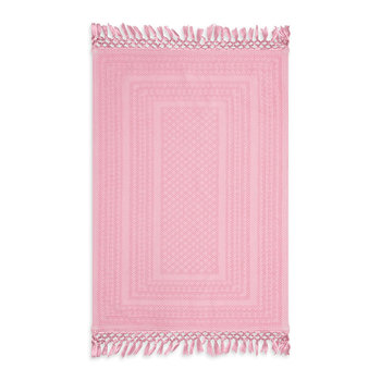 Banana Leaf Tasseled Rug - Pink