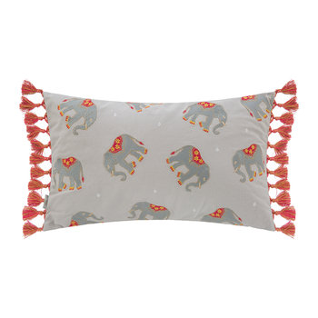 Elephant Tasselled Cushion - 50x30cm