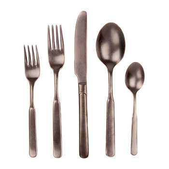 Lucca 5 Piece Cutlery Set - Black