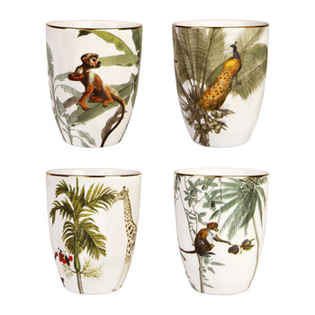 Jungle Mugs - Set of 4