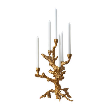 Apple Tree Candle Holder - Gold