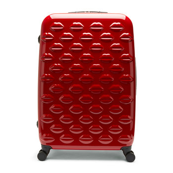Lips Trolley Suitcase - Red