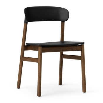 Herit Smoked Oak Chair - Black