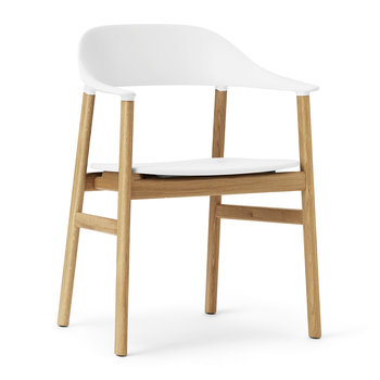 Herit Oak Armchair - White