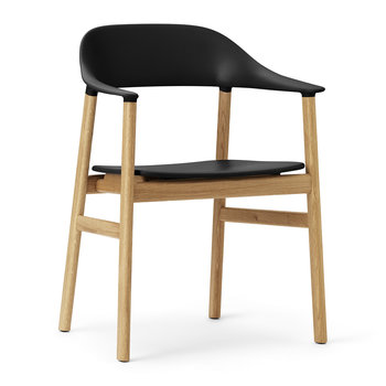 Herit Oak Armchair - Black
