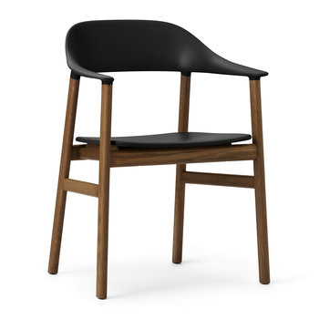 Herit Smoked Oak Armchair - Black