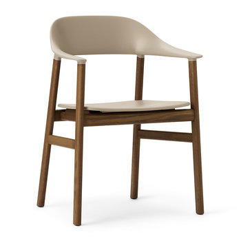 Herit Smoked Oak Armchair - Sand