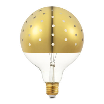 Dot Light Bulb - Gold