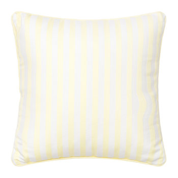Candy Stripe Cushion - 40x40cm - Pale Yellow
