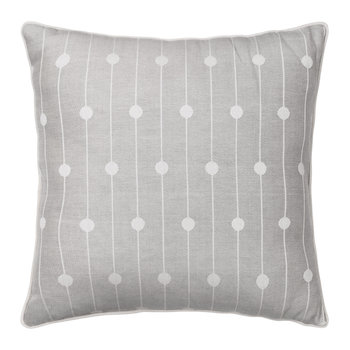Mega Fairy Lights Cushion - 50x50cm - Metal Grey
