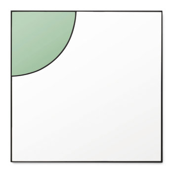 Mirage Mirror - Lawn Green - 50x50cm
