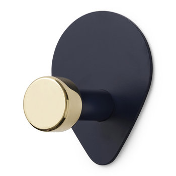 Peacock Wall Hook - Small - Midnight Blue