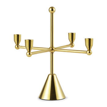 Tivoli Pirouette Candle Holder - Brass - Four Candles