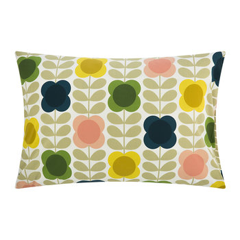 Summer Flower Stem Pillowcase - Multi - Set of 2