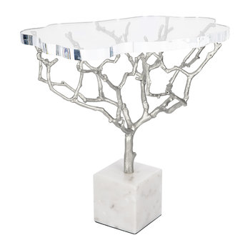 Acrylic Tree Side Table - Shiny Nickel