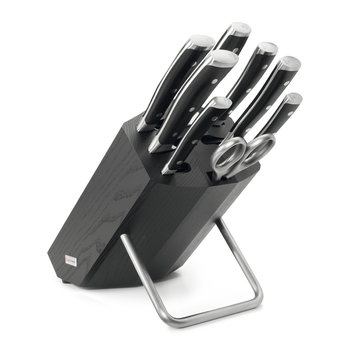 Classic Ikon 9 Piece Knife Block - Black