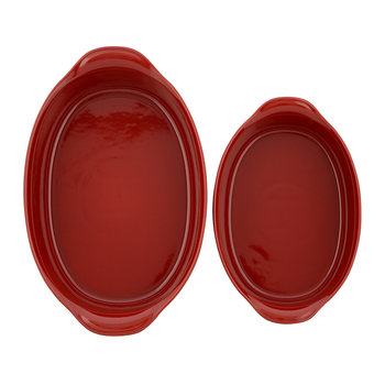Ultime 2 Piece Oval Oven Dish Set - Red