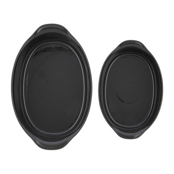 Ultime 2 Piece Oval Oven Dish Set - Black