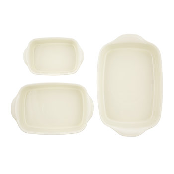 Ultime 3 Piece Rectangular Oven Dish Set - Clay