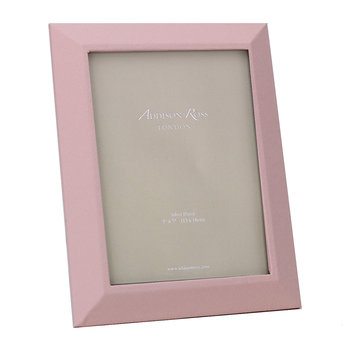 "Faux Leather Photo Frame - 5x7"" - Pink"