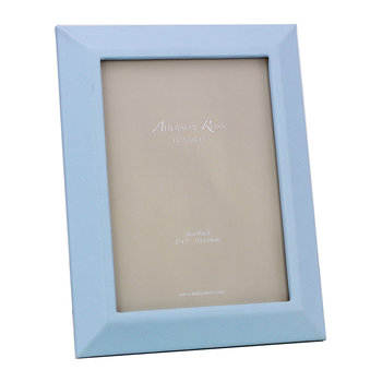 "Faux Leather Photo Frame - 5x7"" - Blue"