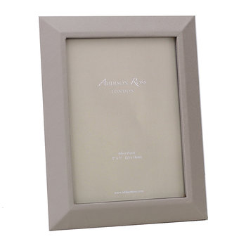"Faux Leather Photo Frame - 5x7"" - Grey"