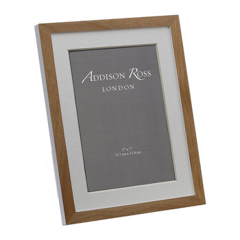 Alder Photo Frame - Natural/White
