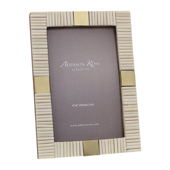 Stripe Bone Photo Frame - 4x6""