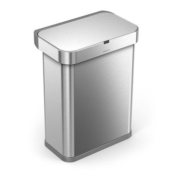 Rectangular Sensor Bin - Brushed Steel - 58L
