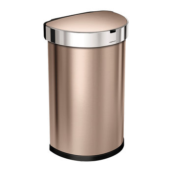 Semi-Round Sensor Bin with Liner Pocket - Rose Gold