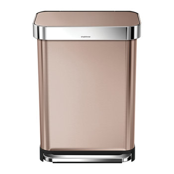 Classic Rectangular Rose Gold Pedal Bin