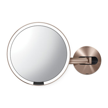 Rechargeable Sensor Wall Mirror - Rose Gold