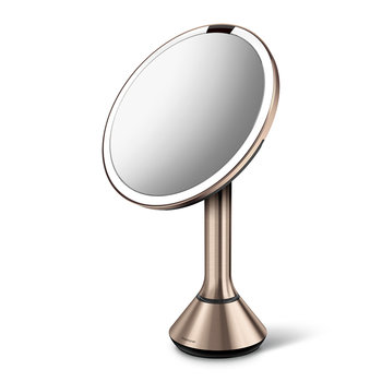 Sensor Mirror with Brightness Control - Rose Gold