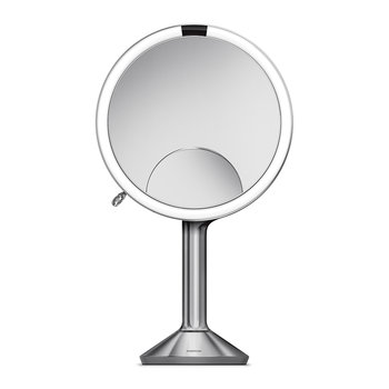 Trio View Sensor Mirror with Brightness Control - Brushed Steel