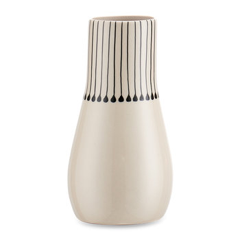 Matamba Ceramic Vase - Large - Black Matchsticks