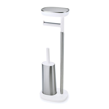 EasyStore Toilet Roll Holder with Toilet Brush