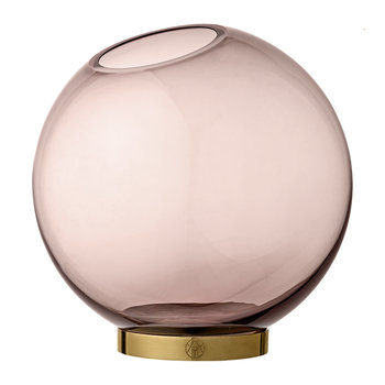 Vase Globe - Rose et or - Grand