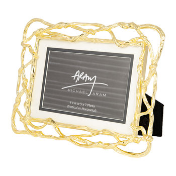 "Wisteria Gold Photo Frame - 4x6""/5x7"""